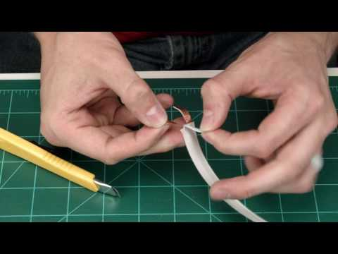 How to terminate 23 AWG Ghost Wire the easy way - Super Flat self adhesive speaker cable