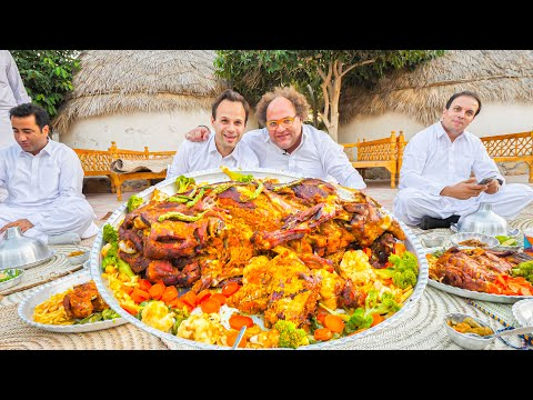 Street Food in Balochistan - GOLD STUFFED LAMB + INSANE BBQ Meat Tour of Chabahar, Iran!!!