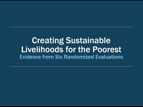 Event: Creating Sustainable Livelihoods for the Poorest