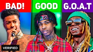 BAD vs. GOOD vs. GOAT Rappers 2020