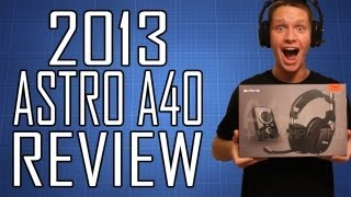 2013 Astro A40 Gaming Headset Review and Unboxing