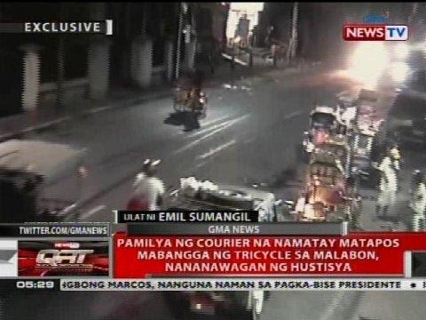Pamilya ng courier na namatay matapos mabangga ng tricycle sa Malabon, nananawagan ng hustisya