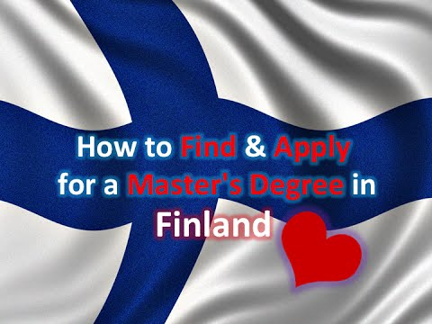 How to Find & Apply for a Master's Degree in Finland