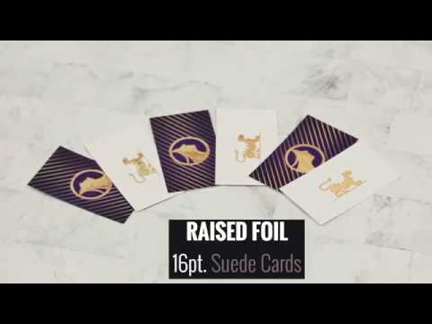 Raised Foil On Suede Product Tutorial Youtube