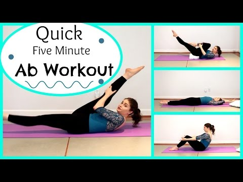 Quick Five Minute Ab Workout | Kathryn Morgan