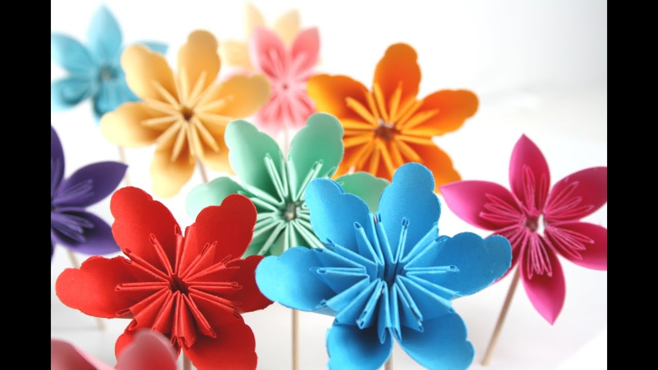 Origami Flowers For Beginners Origami Tutorial Lets Make It
