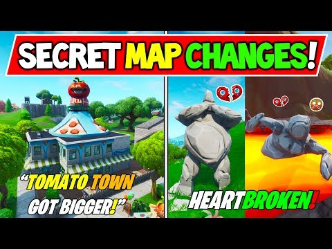 "*NEW* FORTNITE SECRET MAP CHANGES V8.30 ""TOMATO TOWN EXPANDS"" + ""RIP Stone Woman"" Season 8 Storyline"