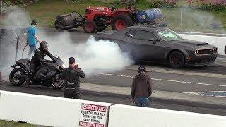 Epic Race !! Demon vs Turbo Hayabusa -604 Street Legit drag racing