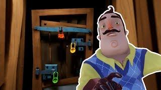 Hello Neighbor WHAT BEHIND THE DOOR IN ACT 1 BASEMENT