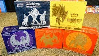 Opening 5 Pokemon Elite Trainer Boxes