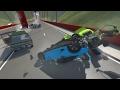 Multiple-car Pileup Crashes - BeamNG DRIVE