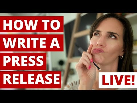 How To Write A Press Release (live Training With Q&A)