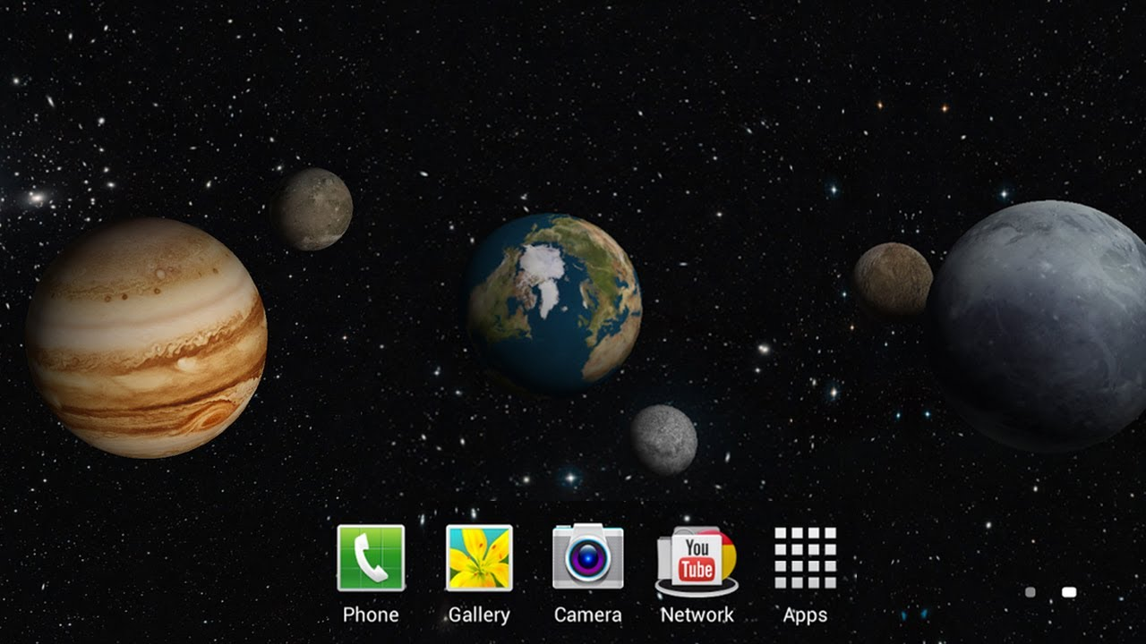 3D Planets Live Wallpaper Android Video Review By Stelapps