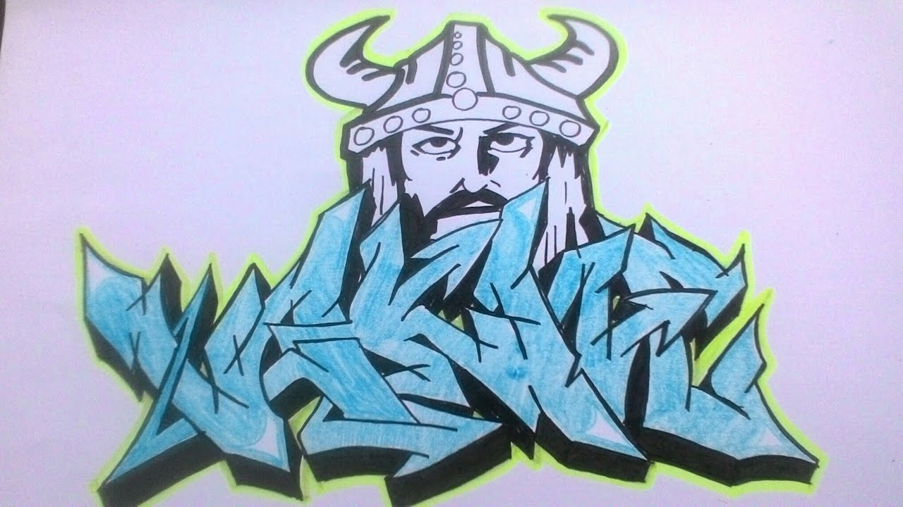 Cara Membuat Graffiti Viking By Maulana Nurfaizin