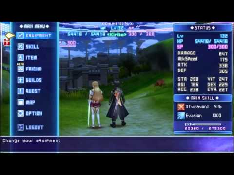 Sword Art Online Infinity Moment English Patch Psp Youtube