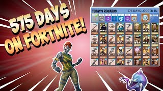 575 DAYS LOGGED IN! PogChamp Fortnite Account Overview! | Fortnite Save The World