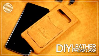 How to make a leather phone case   Leather working