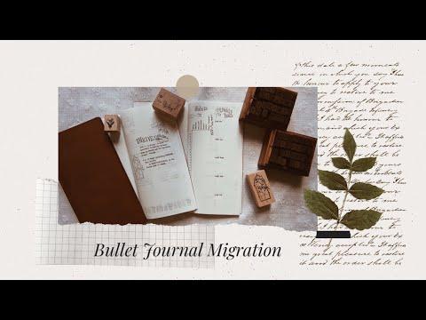 Bullet Journal Migration: From A5 dot grid journal to Traveler's Notebook // Femme Patron