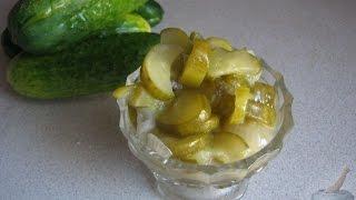Салат «Нежинский» из огурцов на зиму