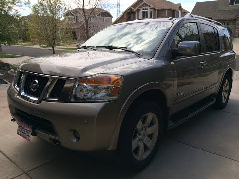 2008 Nissan Armada LE 4WD (Start Up, In Depth Tour, and Review)