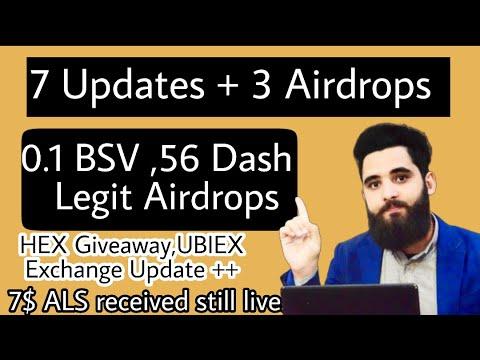 0.1 BSV || 56 DASH Giveaway||HEX & 7$ ALS Received ||||3 more UPDATES 5