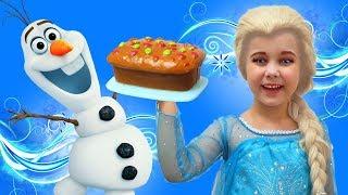 Frozen Elsa & Yulya Pretend Play with Olaf Toy