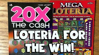 WIN! $10 Mega Loteria + 20X The Cash! ✦ TEXAS LOTTERY SCRATCH OFFS