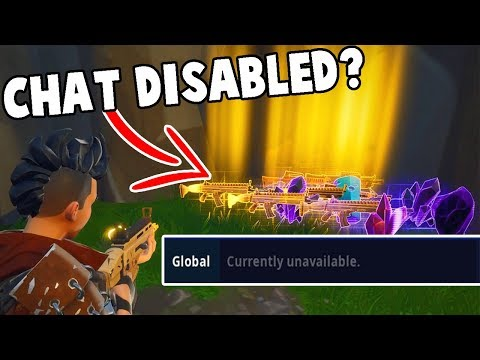 Why Global Chat is disabled on Fortnite Save the World...