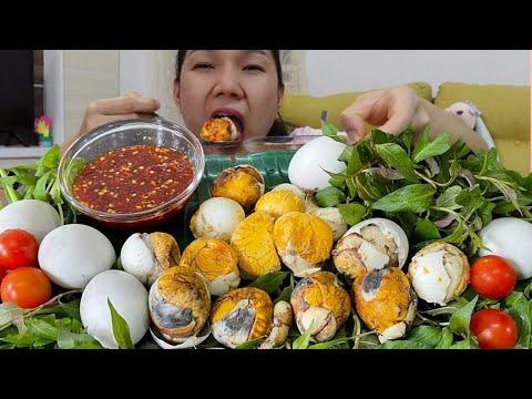 ไข่เวียดนาม ไข่ฮ้างฮัง หน่วยละคำ ซดกับน้ำจิ้มซีฟู้ด ผักแพรว wern woei