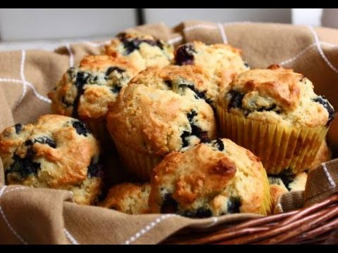 Blueberry Muffins Recipe - How To Make Blueberry Muffins