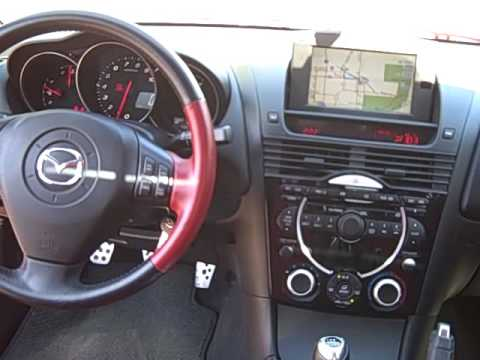 2004 mazda rx 8 metallic red manual transmission! - youtube