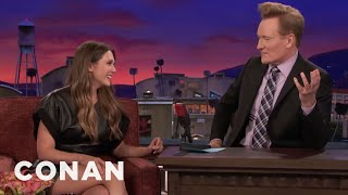 Elizabeth Olsen Teaches Conan Russian Curse Words  - CONAN on TBS