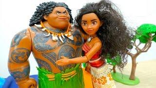 Моана и Мауи с пиратами - Куклы и игры для детей