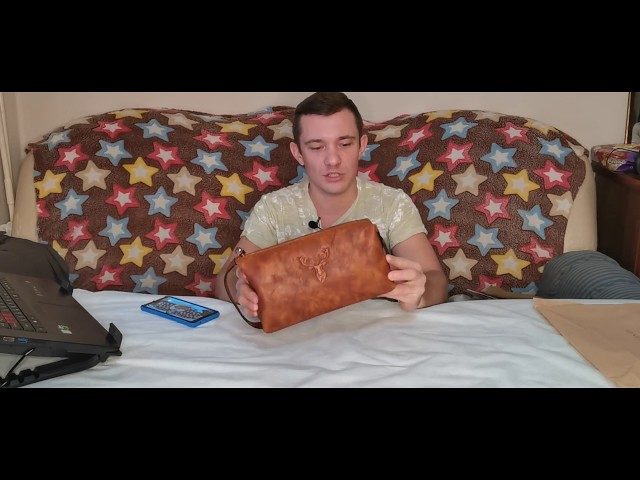 Во дает Aliexpress! Крутой мужской клатч из натуральной Кожи! Видеообзор!