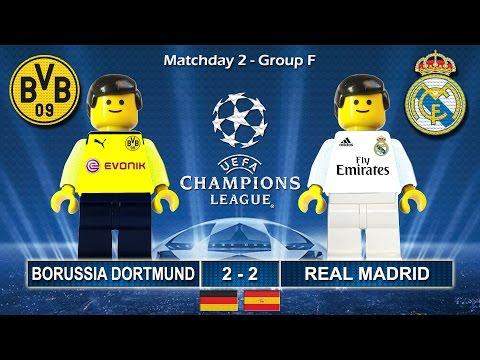BORUSSIA DORTMUND vs REAL MADRID 2-2 • Champions League 2017 ( Film Lego Football Goals ) BVB