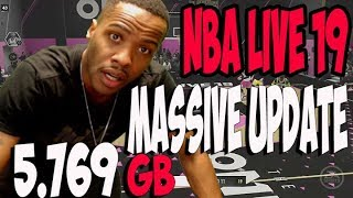 a7d9fcad7 NBA LIVE 19 NEW ANIMATIONS MASSIVE UPDATE 5.769 GB ITS HERE