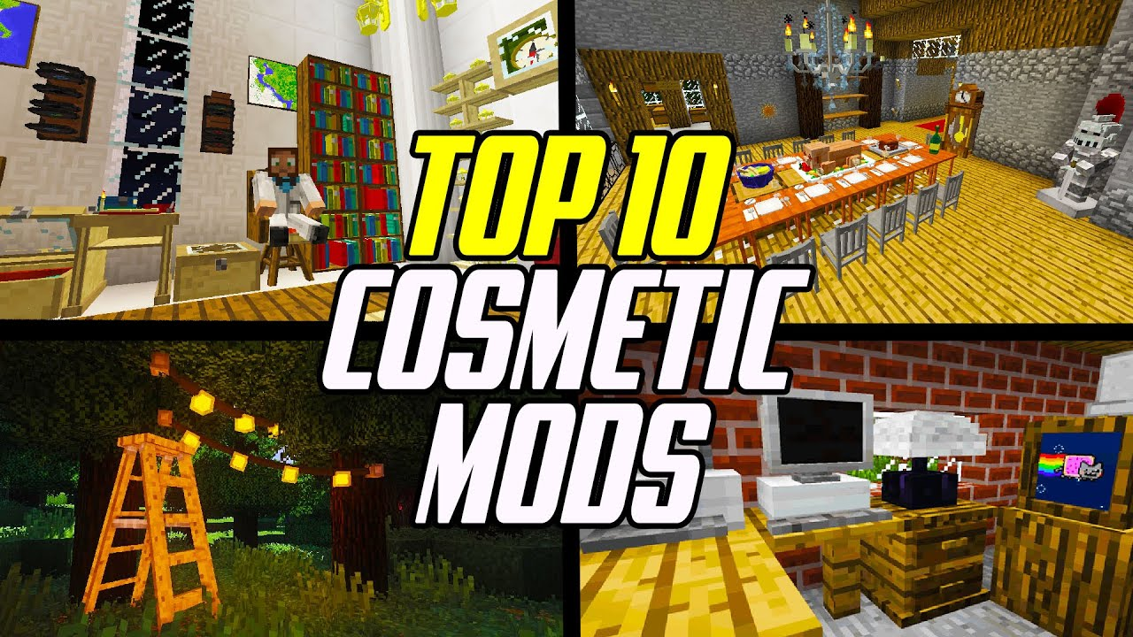 Top 9 Minecraft Cosmetic Mods (Furniture, Animations & Building Blocks)