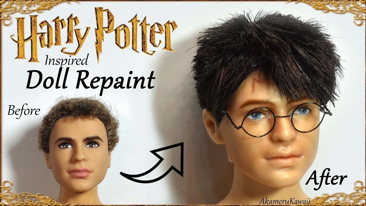 Harry Potter Inspired Doll Repaint Part 1 Face Youtube