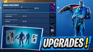 Battle Pass Skins UPGRADED! Amélioration de la peau OMEGA! ( Fortnite Saison 4 )
