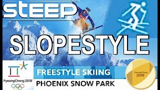 """STEEP (Olympic Games) """"SLOPESTYLE"""" Freestyle Skiing (Gold) & GoPro-View"""