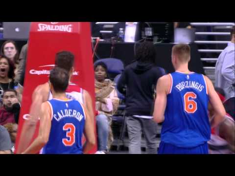 Bradley Beal Takes it to the Tin on Porzingis