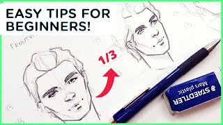 How to Draw a Male Face - Art Tutorial【My Sketching Technique】