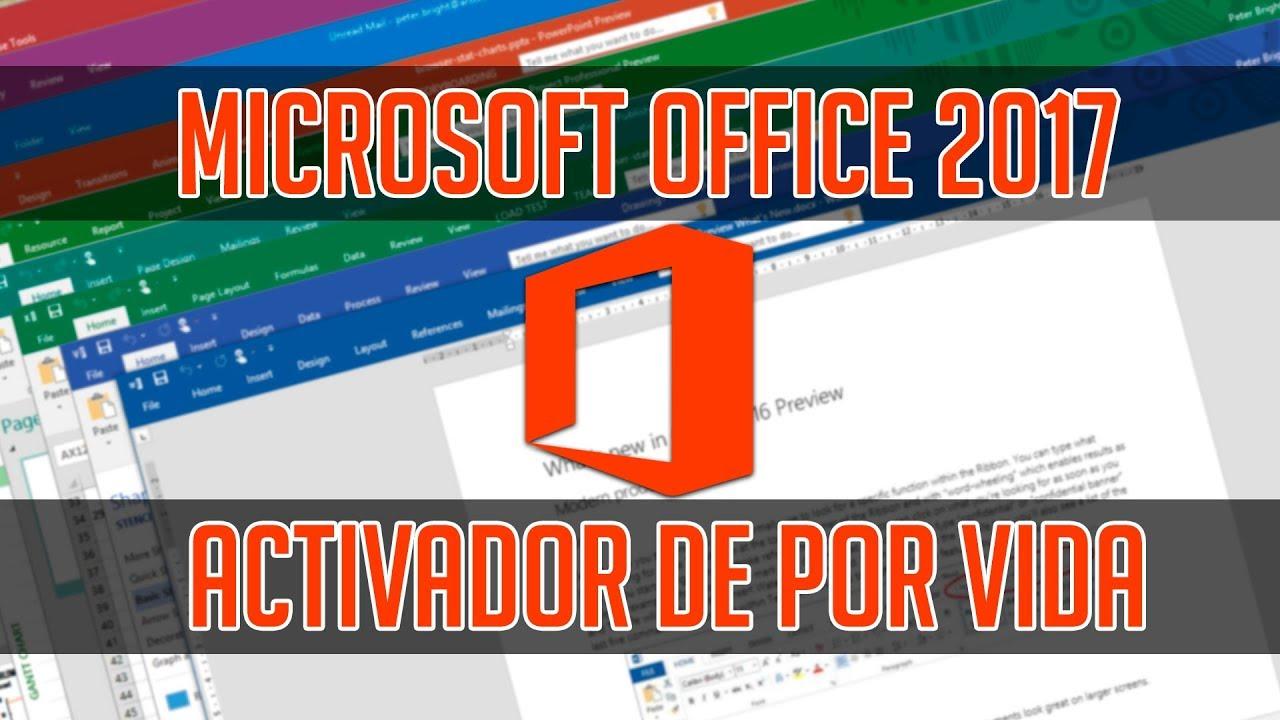 descargar microsoft office 2017 gratis mas activador