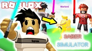 I faced off against the WARLORD then found TORIN in Saber Simulator Roblox