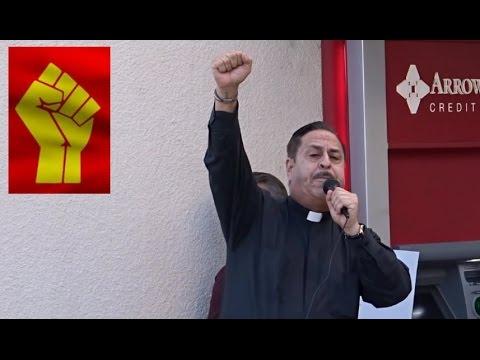 RADICAL MARXIST PRIEST PREACHES THE OVERTHROW OF AMERICA. SAYS DUMP TRUMP.