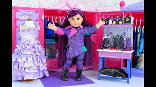 American Girl Doll Disney Descendants Mal's Room And Closet Tour!