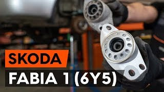 Montera Fjäderbenslagring bak och fram SKODA FABIA Combi (6Y5): gratis video