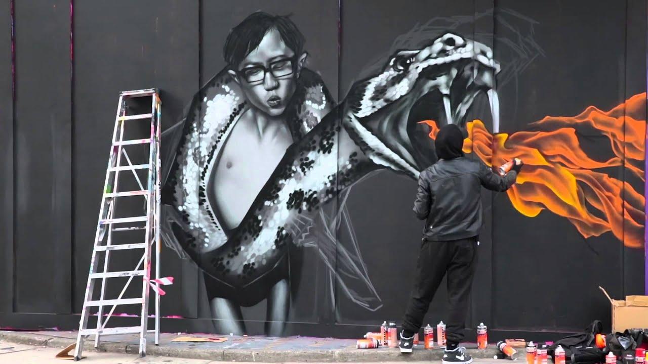 Dice Street Art In Shoreditch London Youtube