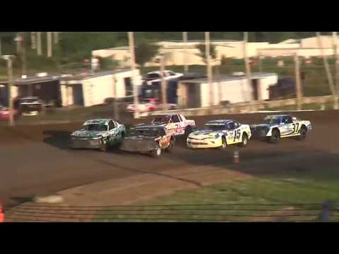 USRA Stock Car Heat 3 Upper Iowa Speedway 8/3/19