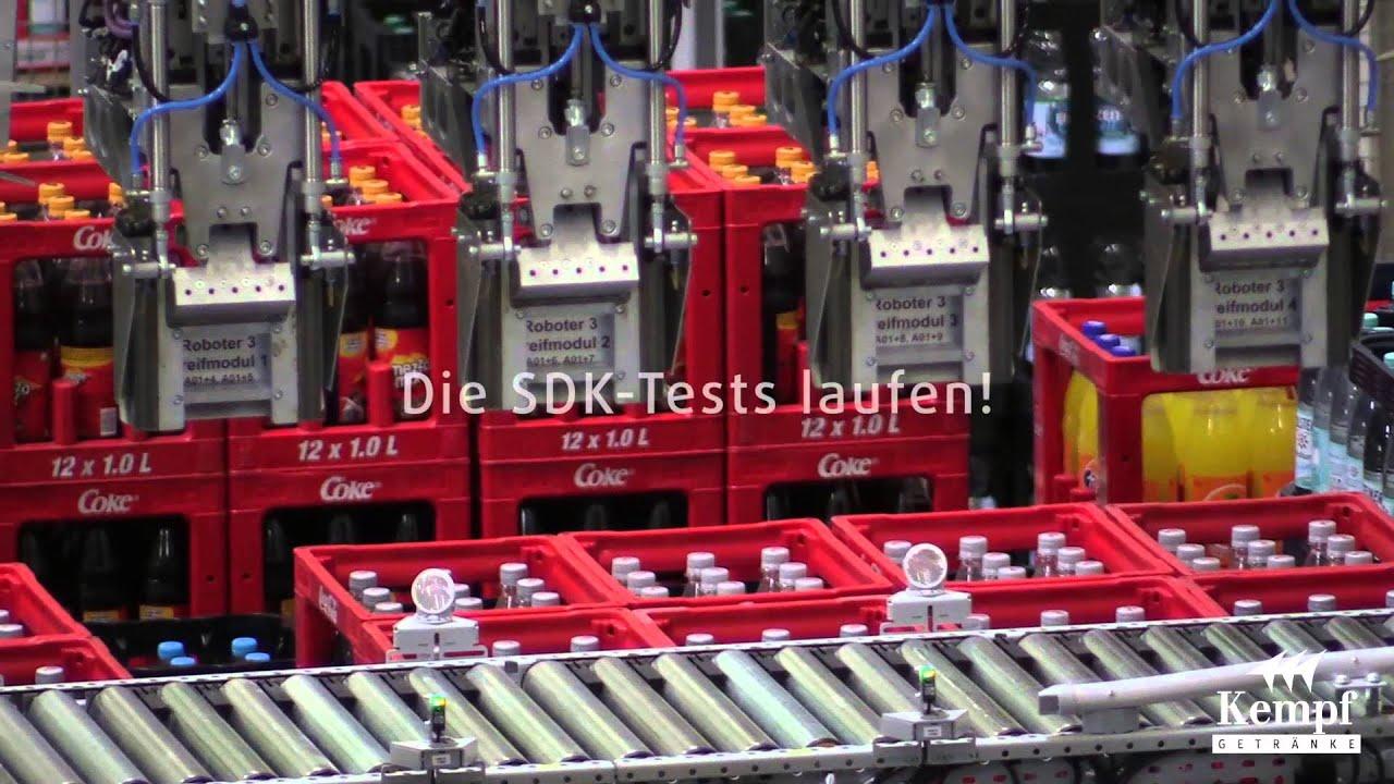 Bau-Projektverlauf Automatisiertes Handelslager Getränke - YouTube